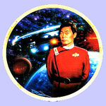 Captain Sulu & USS Excelsior   Plate- Keith Birdsong