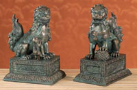 Foo Dog - Pair Of Chinese Lions Chinese Figurines & Statues