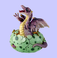Purple Baby Dragon Speckled Egg