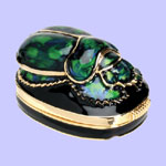 Green Scarab Jeweled Box