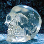 Small Clear Crystal Skull