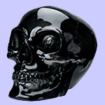 Black Crystal Skull w/ Movable Jaw