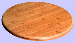 Round Bamboo Lazy Susan