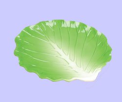 Fruit & Vegetable Shaped Serveware Green Cabbage Plate