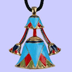 Lotus Pendant Costume Jewelry