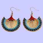 Papyrus Earrings Costume Jewelry