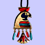 Horus Lotus Pendant/Brooch Costume Jewelry
