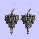 Dragon Head Earrings Costume Jewelry