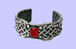 Celtic Ruby Bracelet Costume Jewelry