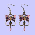 Nouveau Butterfly Earrings Costume Jewelry