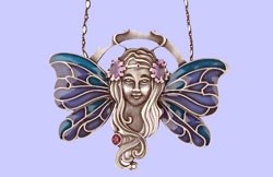 Nouveau Fairy Pendant Costume Jewelry