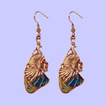 Nouveau Peacock Maiden Earrings Costume Jewelry