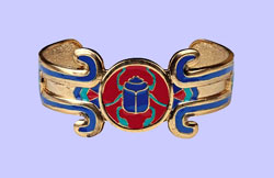 Egyptian Scarab Bracelet Costume Jewelry
