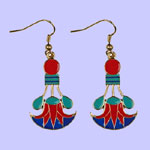 Cleopatra Lotus Earrings Costume Jewelry
