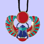 Winged Scarab Pendant Costume Jewelry