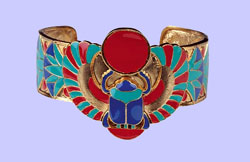 Winged Scarab Bracelet Costume Jewelry