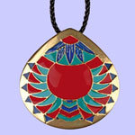 Chevron Medallion Pendant Costume Jewelry
