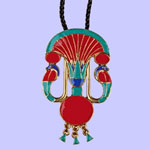 Cobra Lotus Pendant Costume Jewelry