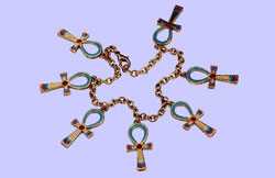 Egyptian Ankh Bracelet Costume Jewelry