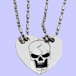 Broken Heart Dog Tag Costume Jewelry