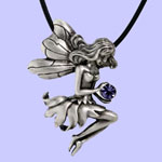 Seated Fairy Pendant Costume Jewelry