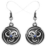 Celtic Spiral Earrings Costume Jewelry