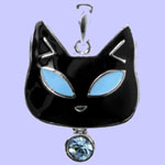 Tiffany Cat Pendant Costume Jewelry