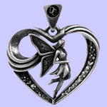 Fairy Heart Pendant Costume Jewelry