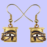 Wedjat Earrings Costume Jewelry
