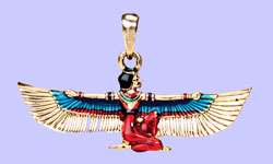 Egyptian Maat Pendant Costume Jewelry