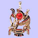 Egyptian Thoth Pendant Costume Jewelry