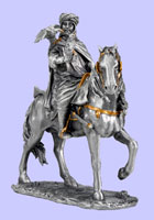 Muslim Warrior with  Falcon On Horse Statue