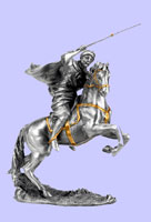 Muslim Warrior with Rifle On Horse Statue