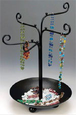Jewelry Tree with Bowl Base