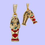 King Tut Coffin Pendant Costume Jewelry