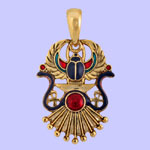 Cobra, Winged Scarab Pendant Costume Jewelry