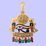 Cobra, Eye Of Horus Pendant Costume Jewelry
