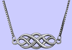 Celtic Unity Knot Necklace Costume Jewelry