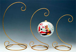 Gold Glitter Ornament Stands