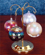 4 Hook Brass Ornament Tree