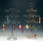 Brass / Silver 4 Tier Ornament Tree with Star
