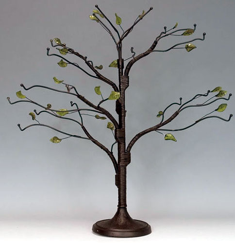 Red Co Metal Mini Regent Display Tree and Jewelry Organizer with 3Tiers of Branches 22 inch Bronze Wire Ornament Stand