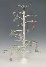 Lg White Wire Twig Ornament Tree