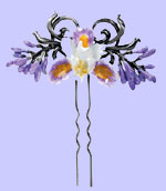 Purple Iris Hair Pin