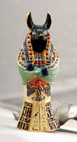 Anubis jeweled Sarcaphagus