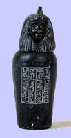 Set of 4 Black Canopic Jars