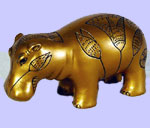 Egyptian Gold Hippo