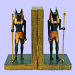 Egyptian Anubis Bookends
