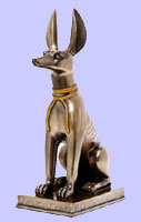 Sitting Egyptian Anubis