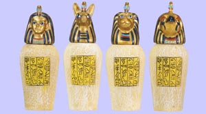 Set of 4 Canopic Jars